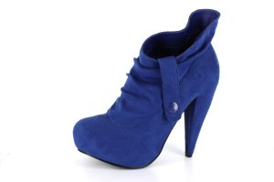 NEW Blue Suede Platform Womens Snap Tap Boots Shoes