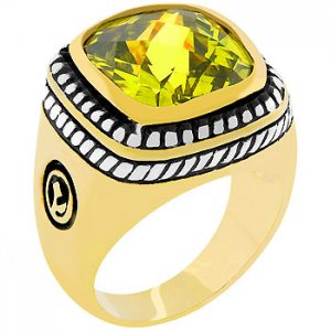NEW 14k Gold White Gold  Peridot CZ  Ring
