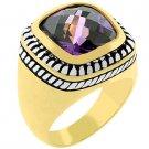 NEW 14k Gold White Gold  Amethyst CZ  Ring