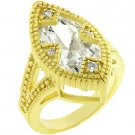 NEW 14k Gold Matte Marquise CZ Ring