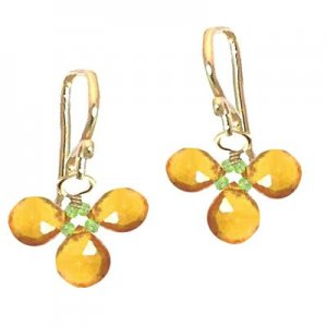 Calico Juno 925 Sterling Silver Citrine Earrings
