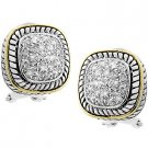 NEW 14K Gold Silver Cable Stud Earrings