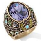 Heidi Daus Delight in Tanzanite Crystal Ring Size 5