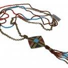 Chicos NEW Goldtone Aztec Style Necklace & Pendant