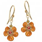 Calico Juno14k Gold Mandarin Garnet Earrings