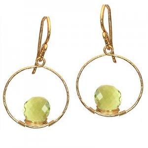 Calico Juno 14k Gold Lemon Quartz Earrings