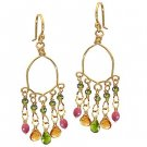 Calico Juno 14k Gold Ruby Citrine Vessonite Earrings