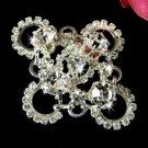 Silver Swarovski Crystal Bridal Brooch Pin
