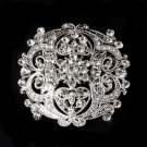 Crystal Vintage Style Bridal Brooch Pin Hair Clip