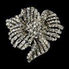 Elegant Vintage Flower Crystal Bridal Brooch Pin