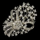 Elegant Vintage Bouquet Crystal Bridal Brooch Pin