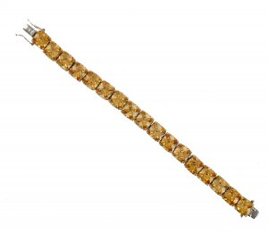 NEW Champagne Austrian Crystals Tennis Line Bracelet