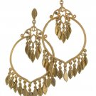"Chicos NEW Goldtone 2"" Hoop Dangle Earrings"