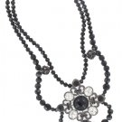 White House Black Market Black Rhinestone Necklace
