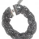 Chicos Chrome Silvertone Chain Necklace