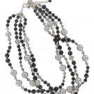 White House Black Market Silver Black Necklace