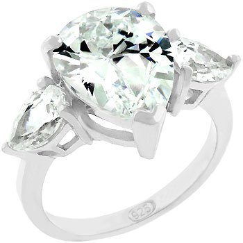 NEW  Anniversary 925 Silver Cubic Zirconia Ring