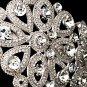 Silver Austrian Crystal Elegant Floral Headband Tiara