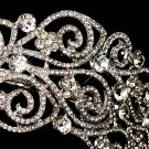 Antique Silver Crystal Bridal Tiara Headband