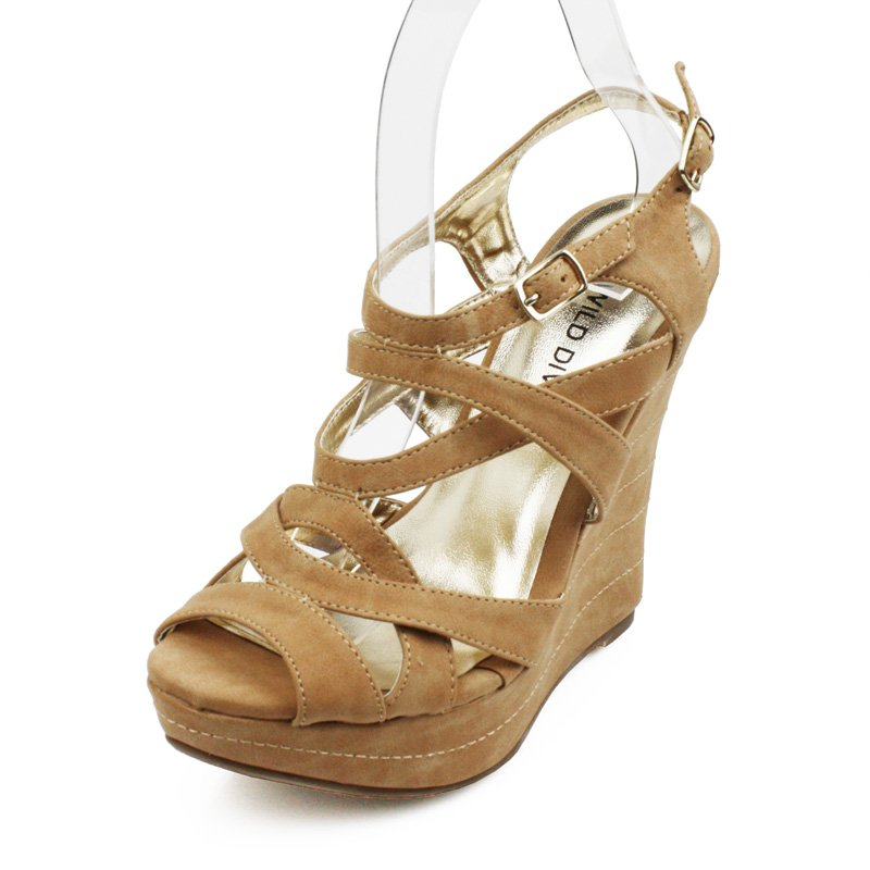 Tan Sandals Wedge Womens Shoes