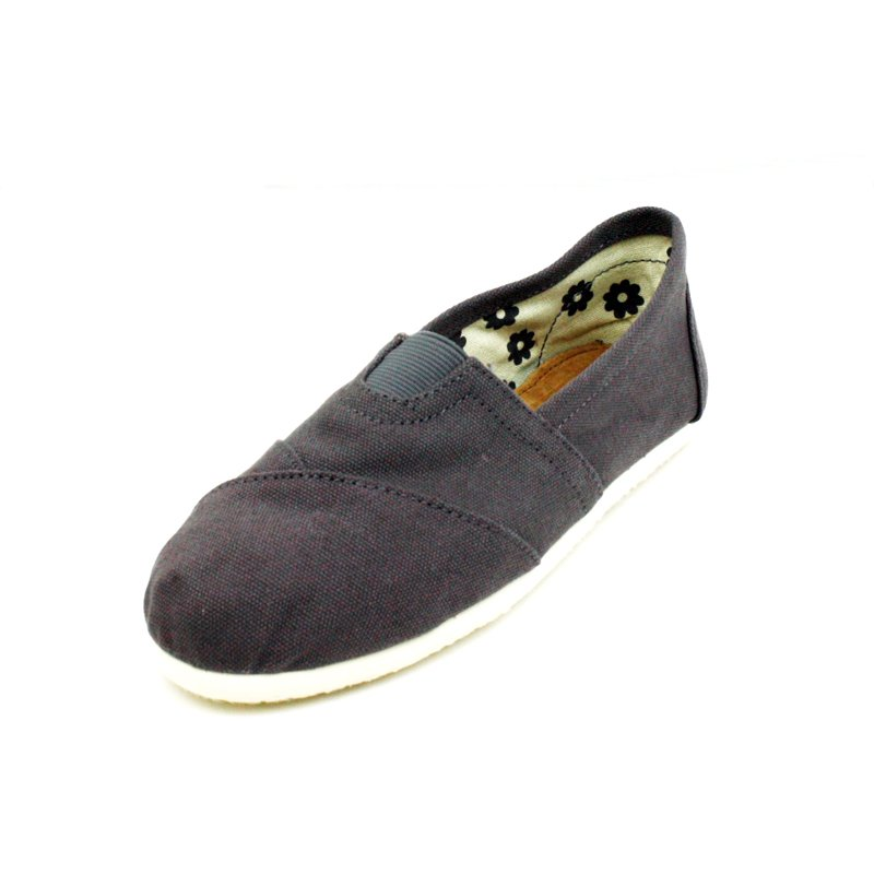 Gray Canvas Flats Womens Shoes