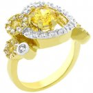 NEW 14k Gold White Gold Yellow CZ Ring