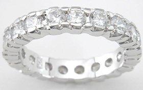 NEW 925 Sterling Silver CZ Platinum Enternity Ring