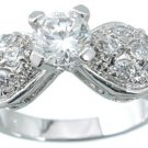 NEW 925 Sterling Silver CZ Brilliant Wedding Ring