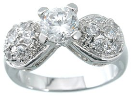 NEW 925 Sterling Silver CZ Brilliant Wedding Ring