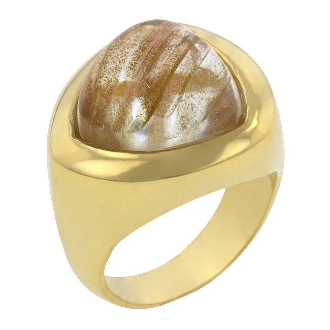 14k Gold Bonded  Imitation Quartz  Ring