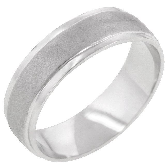 White Gold Rhodium Bonded Eternity Ring in Silvertone