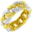 14k Gold White Gold Rhodium Bonded Eternity Ring