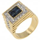 White Gold Rhodium 14k Gold Princess Cut Sapphire Ring