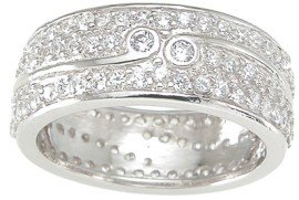 New 925 Sterling Silver CZ Fashion Ring