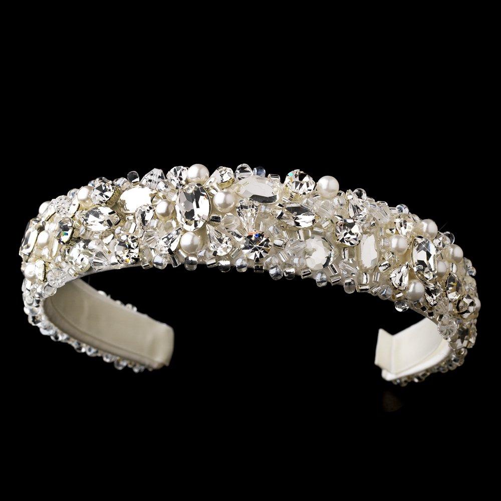Ivory Swarovski Crysal Bead Pearl Headband Tiara