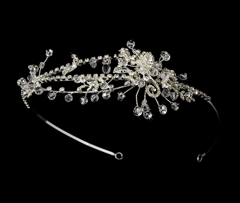 Sterling Silver Swarovski Crystal Headband Tiara