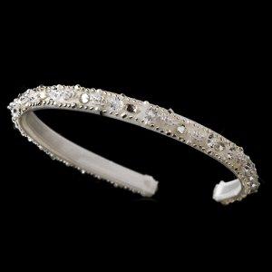 Ivory Sparkling Crystal Beaded Headband Tiara