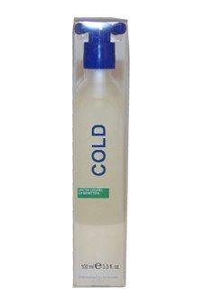 Benetton Cold 3.3 oz EDT Spray Men NEW