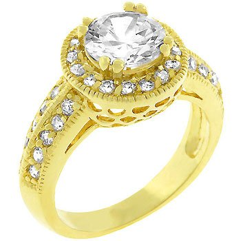 NEW 14k Gold Silver Channel  Set CZ Ring
