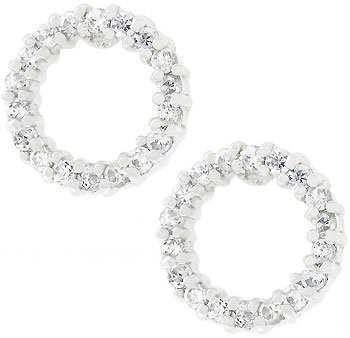 New 925 Sterling Silver CZ Le Cirque Earrings