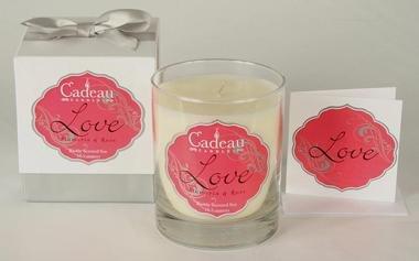 Cadeau Soy Love Plumeria & Rose Jar Candle 10.5 oz