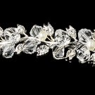 Swarovski Crystal Ivory Pearl Silver Bridal Tiara