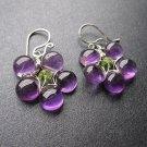 925 Sterling Silver Flower Amehtyst Earrings