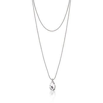 Rhodium Chain Necklace & Pendant