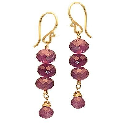 14K Gold filled Amethyst Teardop Earrings