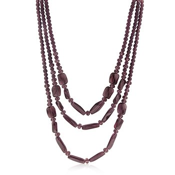 Brown Red Beaded Multi-Tier Necklace
