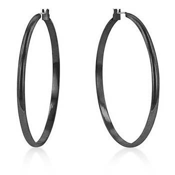 Black Classic Hoop Earrings