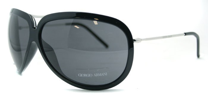 Giorgio Armani GA 624 VZF Black Unisex Sunglasses