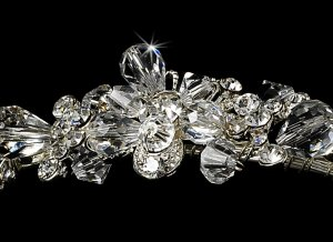 Silver Swarovski Crystal Bridal Headband Tiara