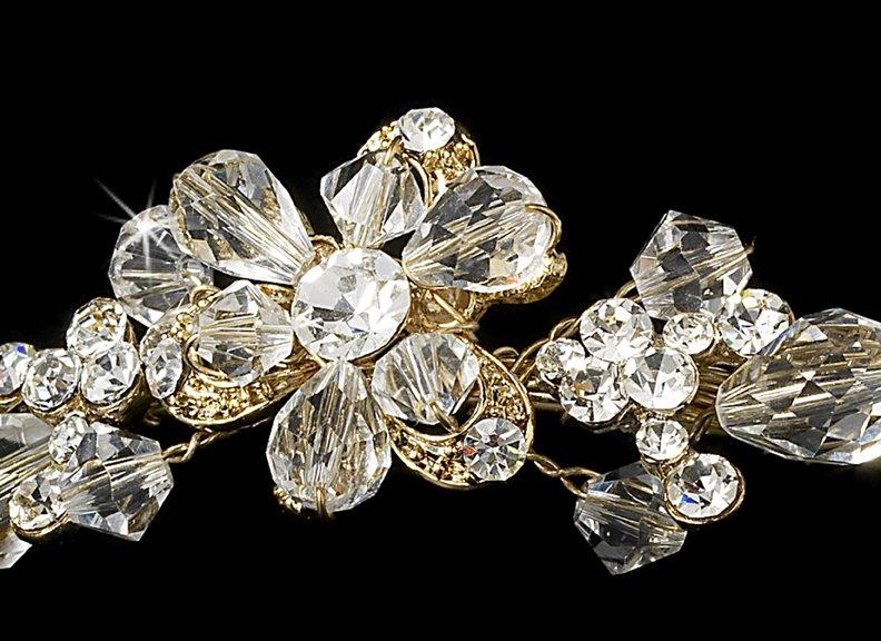 Gold Swarovski Crystal Bridal Headband Tiara